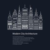 Affiche Moderne Grote Stad stock illustratie