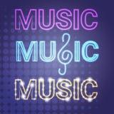 Affiche musicale moderne de style de Live Music Concert Banner Colorful Images libres de droits