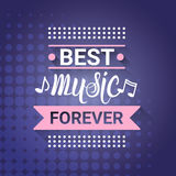 Affiche musicale moderne de style de Live Music Concert Banner Colorful Photos libres de droits