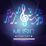 Affiche musicale moderne de style de Live Music Concert Banner Colorful Photographie stock