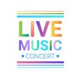 Affiche musicale moderne de style de Live Music Concert Banner Colorful Image stock
