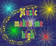 Affiche musicale vive et optimiste Images stock