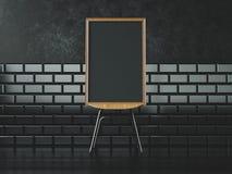 Affiche noire sur la chaise rendu 3d Photographie stock libre de droits