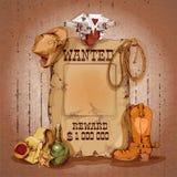 Affiche occidentale sauvage Photographie stock libre de droits