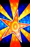 Affiche orange d'éclat d'étoile Images libres de droits