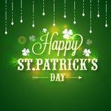 Affiche ou bannière pour la célébration du jour de St Patrick illustration stock