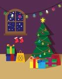 Affiche ou carte de pièce de Noël Photographie stock