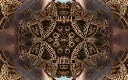 Affiche ou fond fantastique abstraite épique Vue futuriste de l'intérieur de la fractale Modèle sous la forme de flèches Photo stock