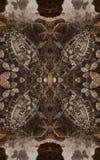 Affiche ou fond fantastique abstraite Vue futuriste de l'intérieur de la fractale Modèle architectural 3d photographie stock libre de droits