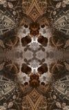 Affiche ou fond fantastique abstraite Vue futuriste de l'intérieur de la fractale Modèle architectural 3d Illustration Stock