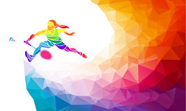 Affiche ou insecte d'invitation de sport de badminton Photographie stock libre de droits