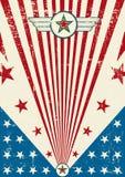 Affiche patriotique de brouillon Image libre de droits