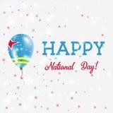 Affiche patriotique de jour national d'Aruba illustration stock