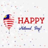 Affiche patriotique de jour national de la Malaisie illustration stock