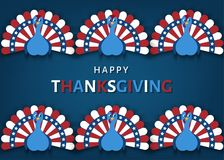 Affiche patriotique de jour de thanksgiving des Etats-Unis illustration stock