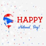 Affiche patriotique de Puerto Rico National Day illustration stock