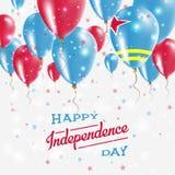 Affiche patriotique de vecteur d'Aruba Fond de grunge de l'indépendance Day Images libres de droits