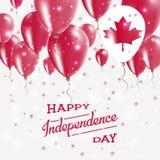 Affiche patriotique de vecteur de Canada Fond de grunge de l'indépendance Day Photos stock