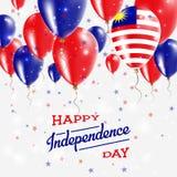 Affiche patriotique de vecteur de la Malaisie l'indépendance illustration de vecteur