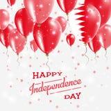 Affiche patriotique de vecteur du Bahrain Fond de grunge de l'indépendance Day Photo libre de droits