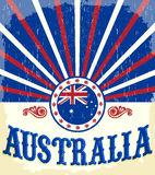 Affiche patriotique de vintage d'Australie illustration de vecteur