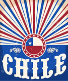 Affiche patriotique de vintage du Chili Photo libre de droits
