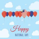 Affiche patriotique plate de jour national de la Malaisie illustration de vecteur