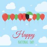 Affiche patriotique plate de jour national du Kowéit illustration stock