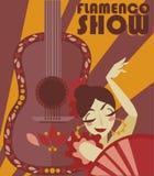 Affiche pour l'exposition de flamenco photos libres de droits