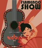 Affiche pour l'exposition de flamenco photographie stock