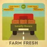 Affiche pour la nourriture organique de ferme illustration libre de droits
