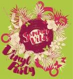 Affiche pour la partie de vinyle d'été Image stock