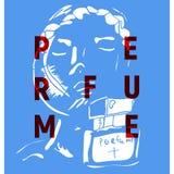 Affiche pour la société de parfum avec la fille Photos stock