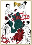 Affiche pour le festival ou le concert de musique de jazz Jazz-band Photo libre de droits