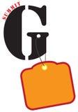 Affiche pour le sommet G illustration de vecteur