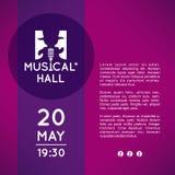 Affiche pour le théâtre de musicaux Photo stock