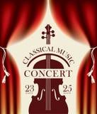 Affiche pour un concert de la musique classique Images libres de droits