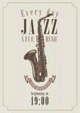 Affiche pour un jazz Photo libre de droits
