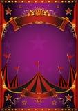 Affiche pourpre de cirque images libres de droits