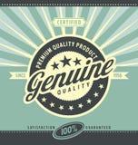 Affiche promotionnelle de vintage pour le produit de qualité de la meilleure qualité Images libres de droits