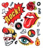 Affiche punk de collection d'illustration de vecteur de correction illustration stock