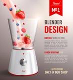 Affiche réaliste d'appareils de cuisine de ménage illustration stock