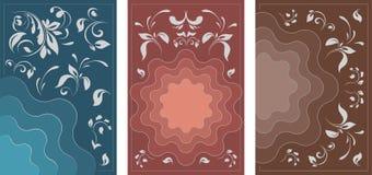 AFFICHE 14 a-reeks brochures in uitstekende stijl royalty-vrije illustratie