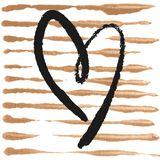 Affiche romantique avec le coeur tiré par la main Photos libres de droits