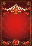 Affiche rouge de cirque d'amusement Photo stock