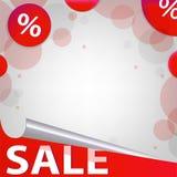 Affiche rouge de vente Photographie stock libre de droits
