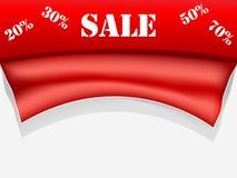 Affiche rouge de vente Photographie stock