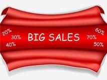 Affiche rouge de vente - grande vente Images stock