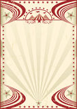 Affiche rouge de vintage de cirque illustration stock