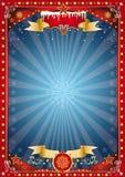 Affiche rouge et bleue fantastique de Noël Images stock